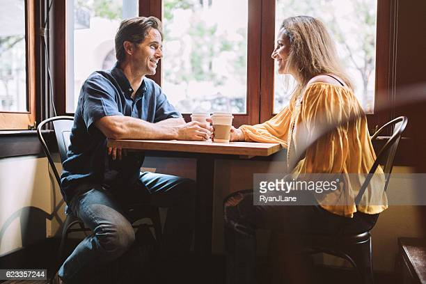Mature Couple at Coffee Shop