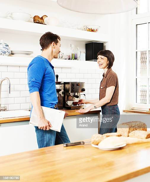 mature couple at kitchen
