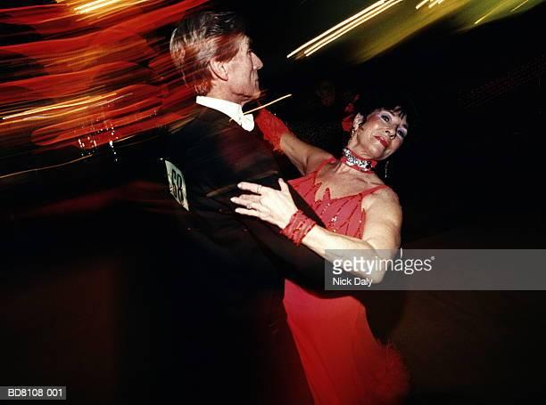 Mature couple ballroom dancing. portrait