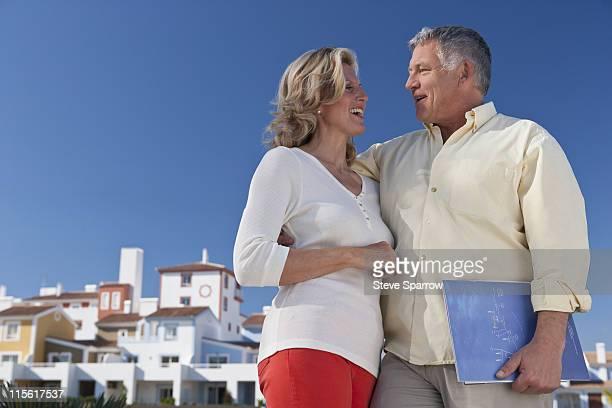 Mature couple buying realestate property