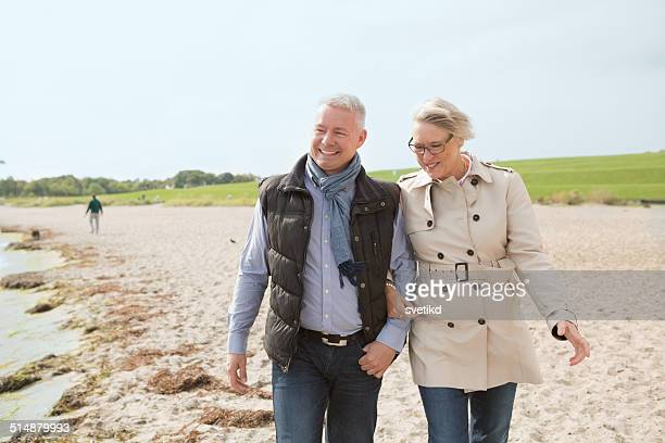 Mature couple by the sea.