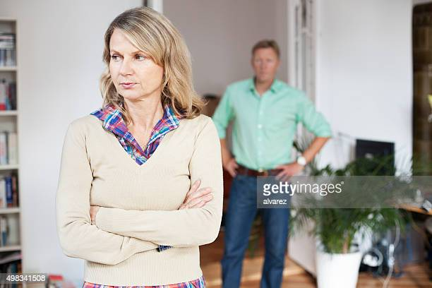Mature couple experiences marital problems