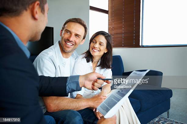 Mature couple getting investment advise
