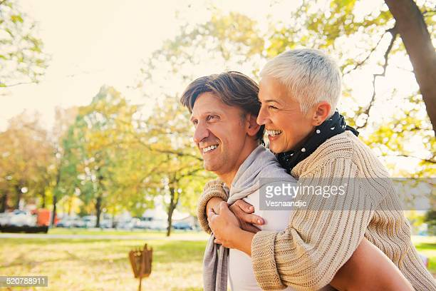 Mature couple have fun