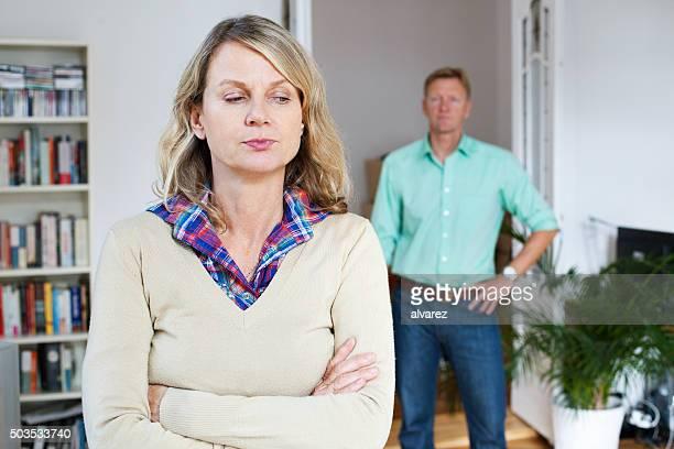 Mature couple having an argument