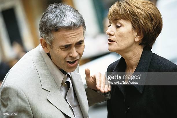 Mature couple having argument