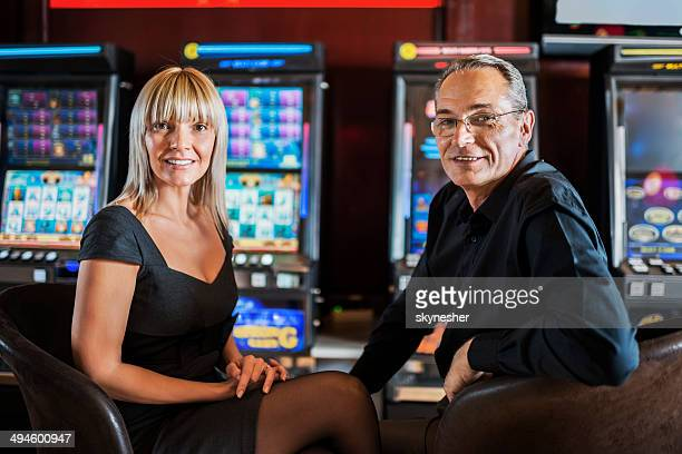 Mature couple in a casino.