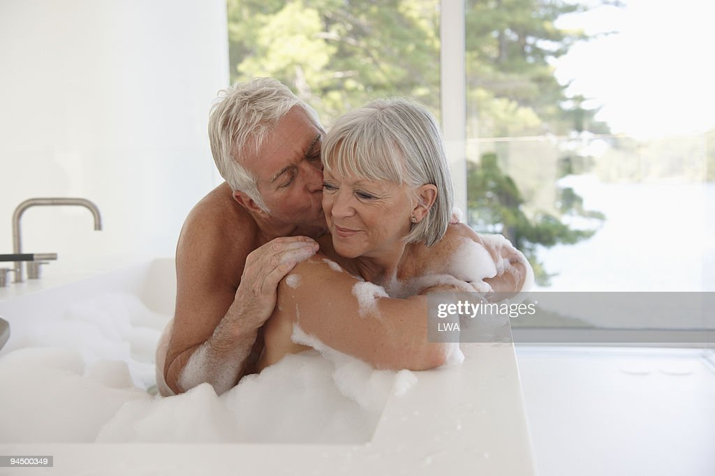 Mature Couple In Bath Tub Stock Photo | Getty Images