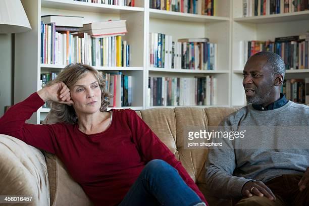 Mature Couple in disagreement