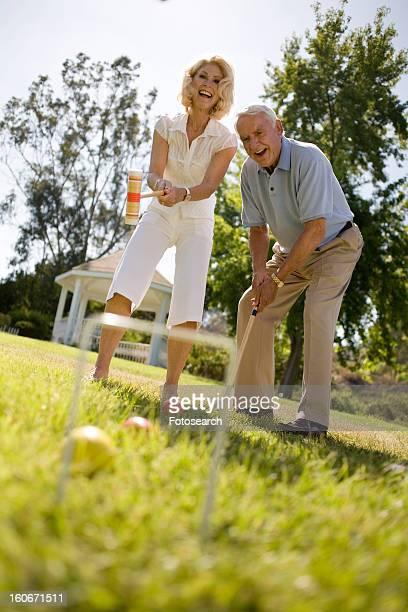 Mature couple in park