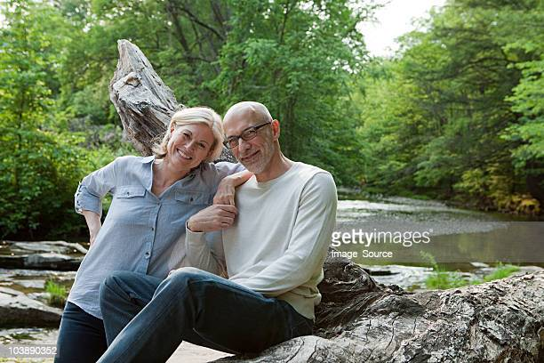 mature couple outdoors in rural scene - baby boomer stock pictures, royalty-free photos & images