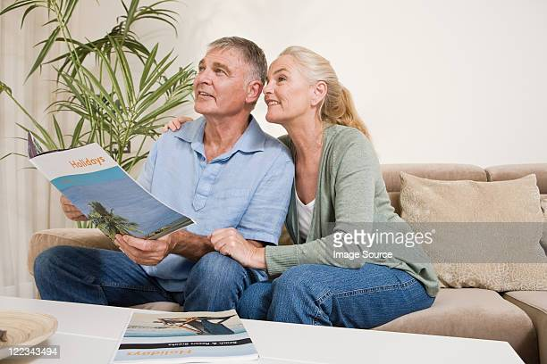 Mature couple planning a holiday