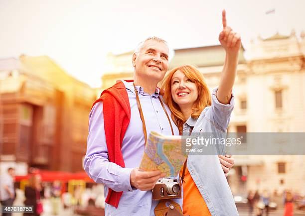 Älteres Paar auf Reisen.