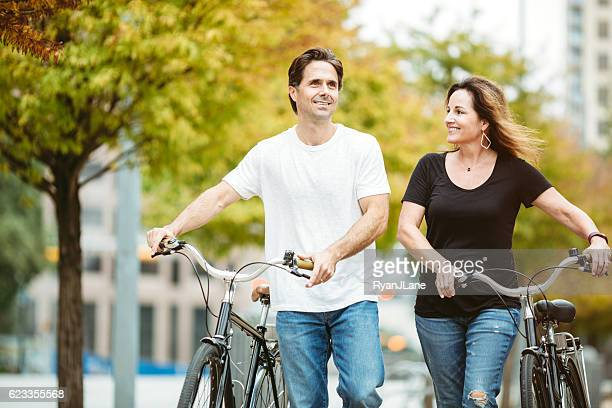 Mature Couple With Bikes in Austin Texas