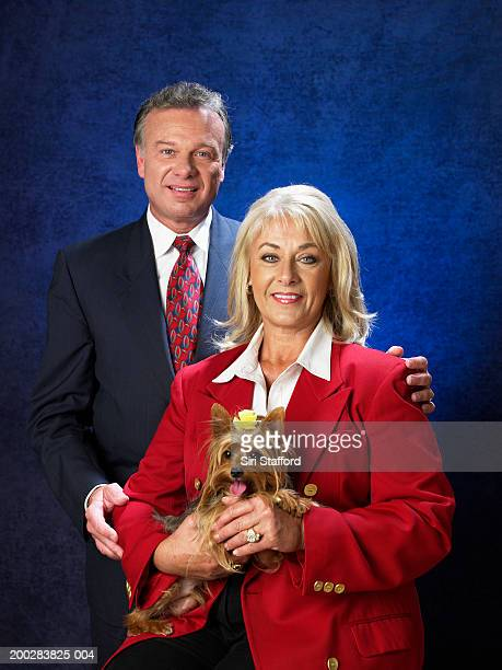 Mature couple with Yorkshire Terrier