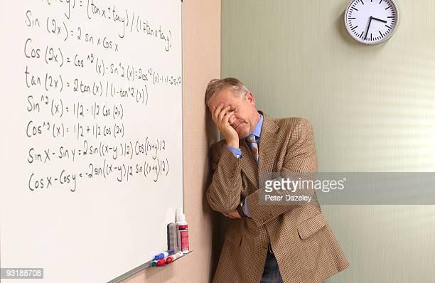 Mature depressed maths teacher