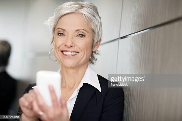 Ältere executive business woman