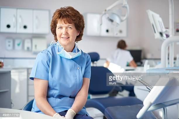 mature female dentist portrait