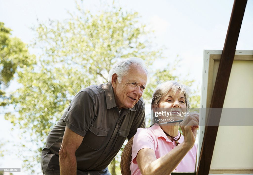 Mature shows her husband