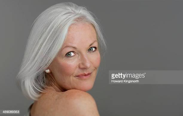 mature glamorous woman smiling