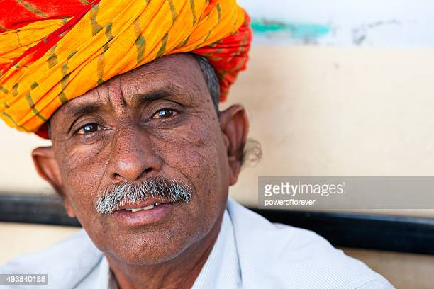 Mature Indian Man in Salapura Village, Rajasthan, India
