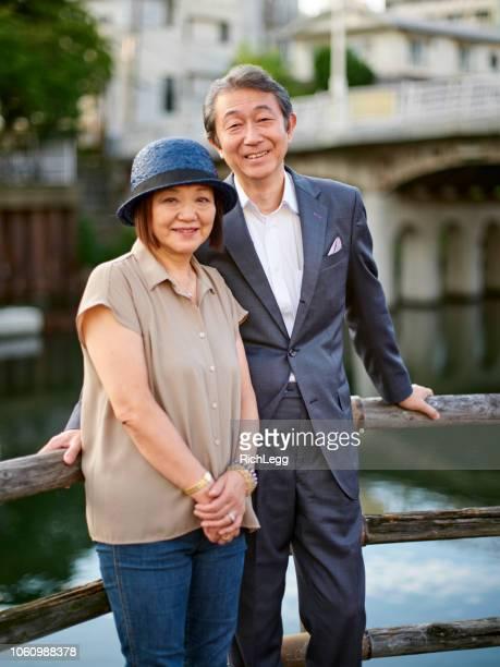成熟した日本のカップル - 60代 ストックフォトと画像