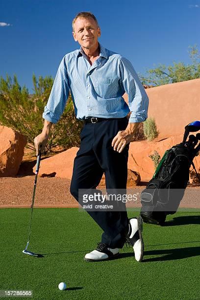 Mature Male Golfer Portrait