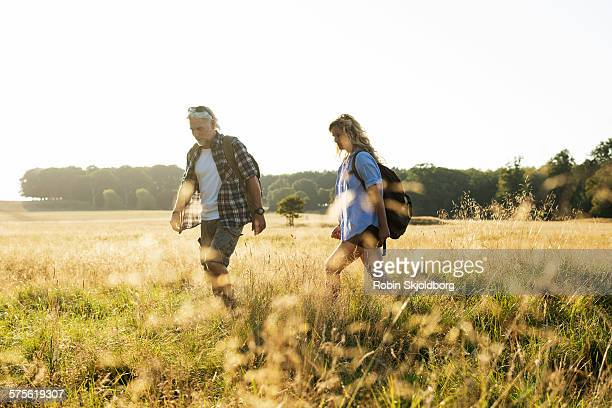 Mature Man and Woman hiking