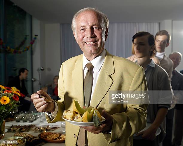 Mature man at family party