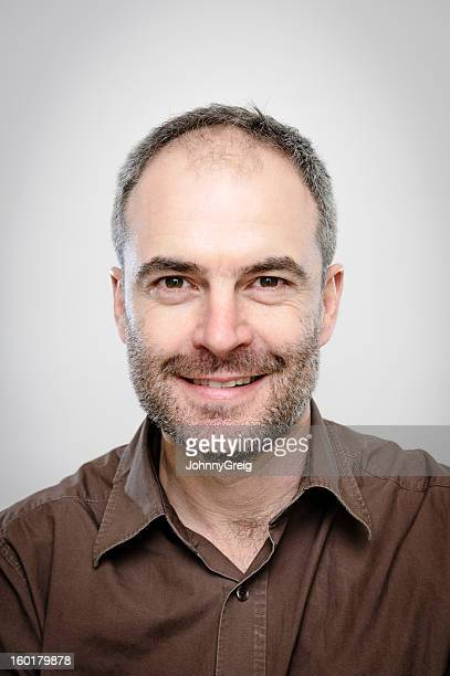 mature man - character portrait - hair loss stock pictures, royalty-free photos & images