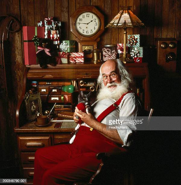 Mature man dressed as Santa Claus, portrait