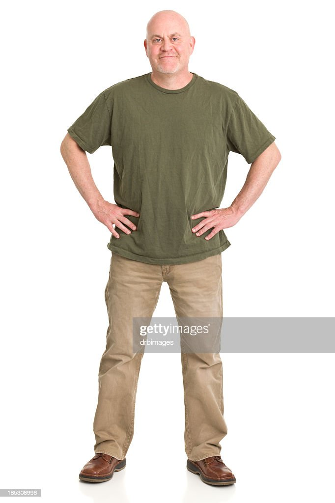 Mature Man Full Length Portrait : Stock Photo