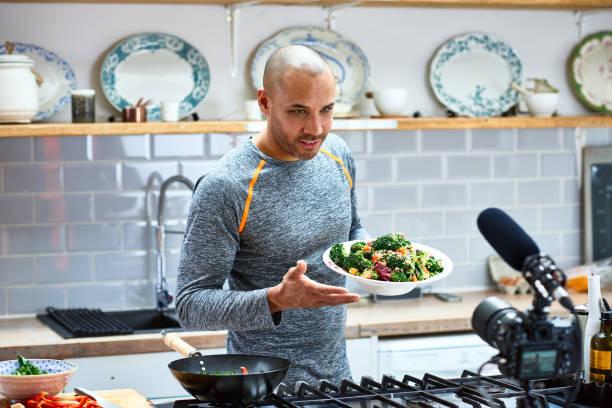 mature man holding vegetarian food and talking to video camera picture id1153697697?k=20&m=1153697697&s=612x612&w=0&h=gxl6 hqJbHQlOCyXgfUHyJyCCqvjzjzp7xEHNr5 ksk=