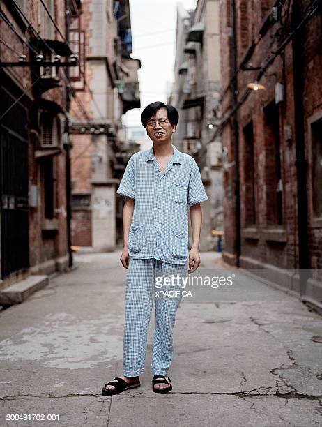 Mature man in alley, portrait