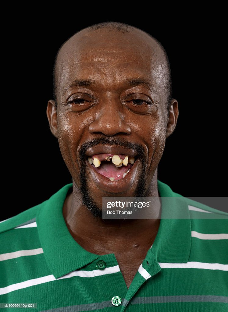 Mature man laughing, close-up, portrait : Stockfoto