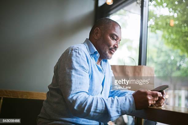 Mature Man on Smart Phone