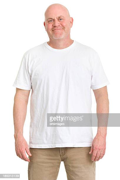 mature man portrait - chubby men stock photos and pictures
