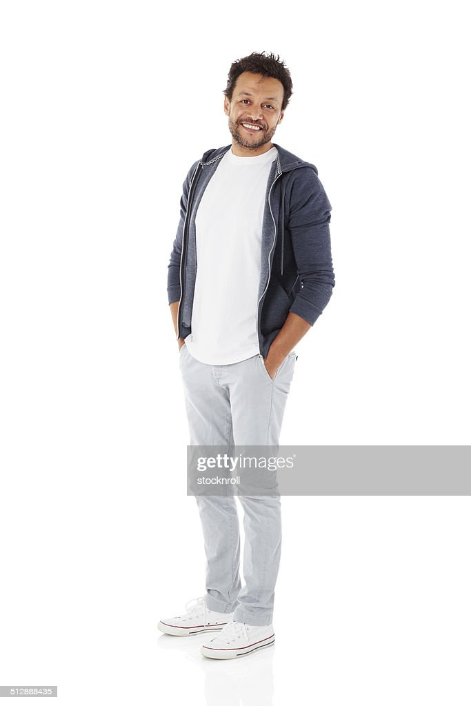 Mature man posing in casuals : Stock Photo