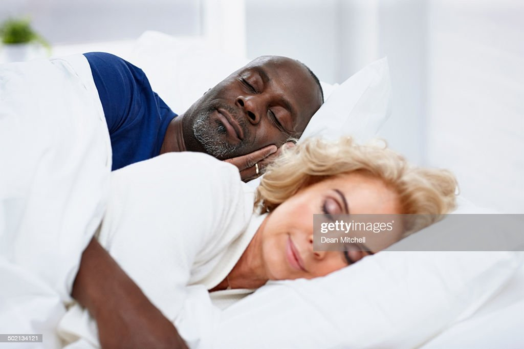 Mature Man Sleeping On Bed With Woman Stock Photo  Getty Images-2483