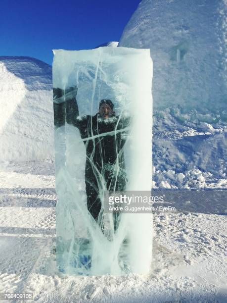 Mature Man Trapped In Ice