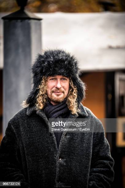 Mature Man Wearing Warm Clothing While Standing Outdoors