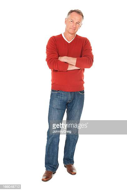 Mature Man With Crossed Arms - Isolated