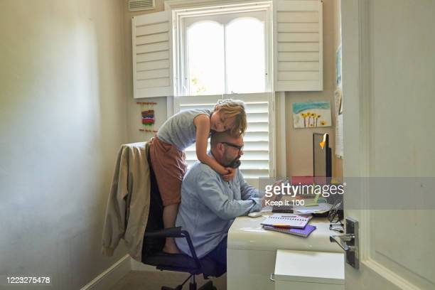 mature man working from home - love stock pictures, royalty-free photos & images