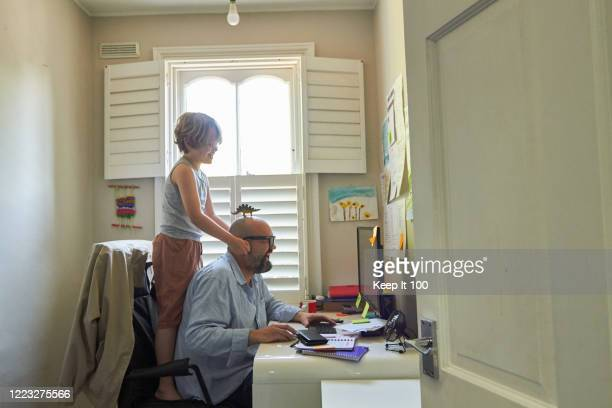 mature man working from home - real people stock pictures, royalty-free photos & images