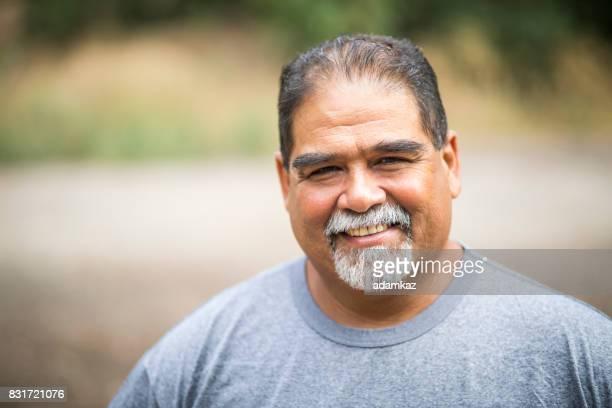 Retrato de hombre maduro mexicano