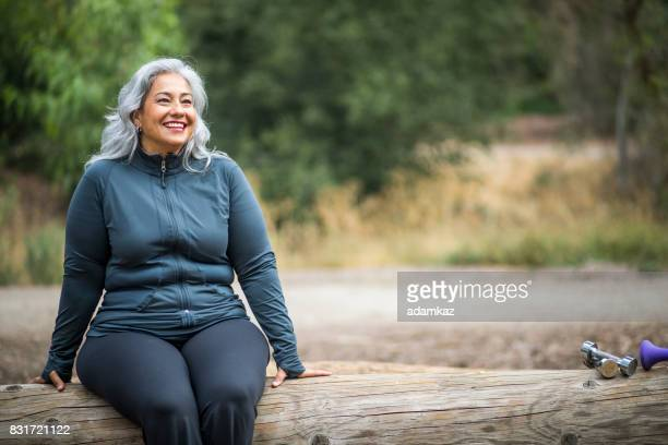 mature mexican woman - chubby stock photos and pictures