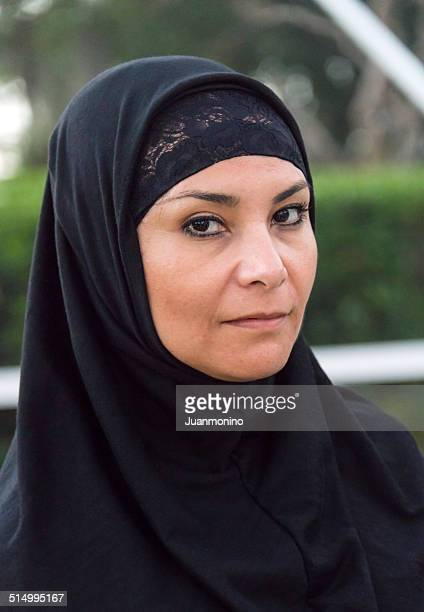 mature middle eastern muslim woman - iranian woman stock photos and pictures