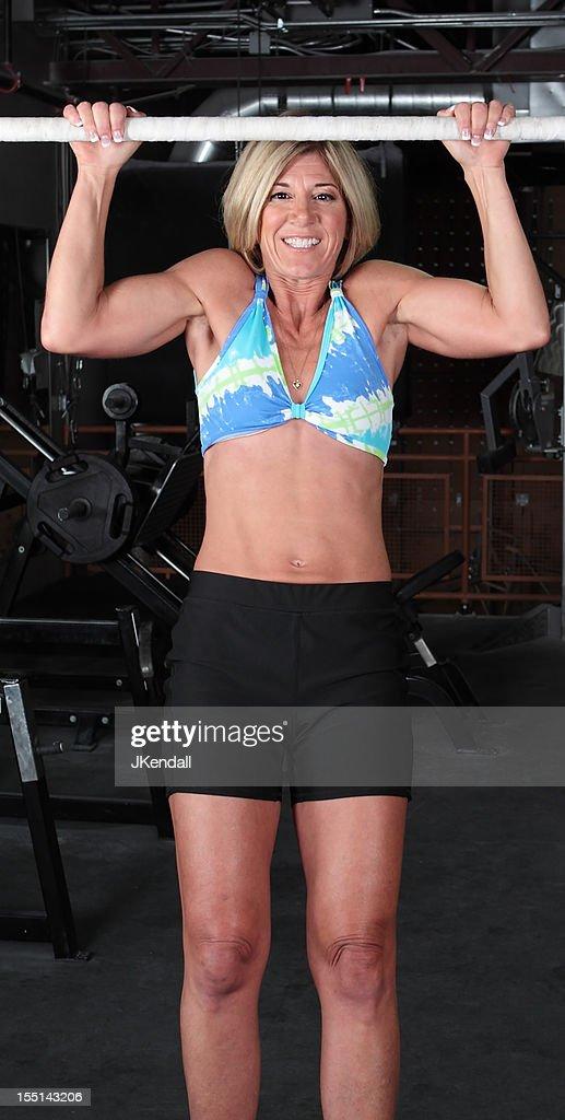 Mature muscle woman
