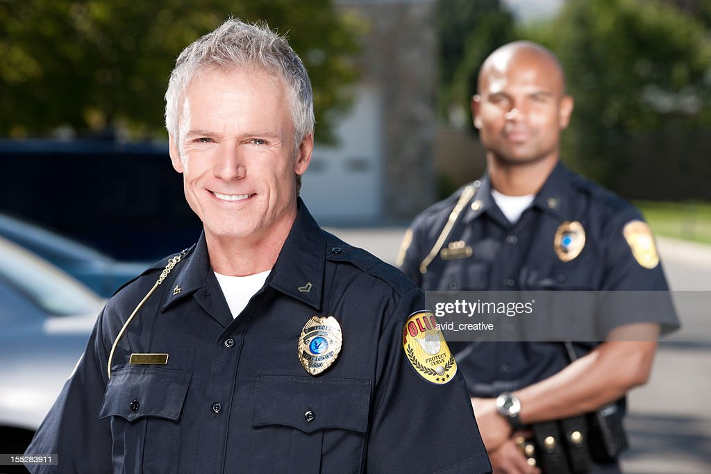 Mature Police Officer Portrait : Stock Photo