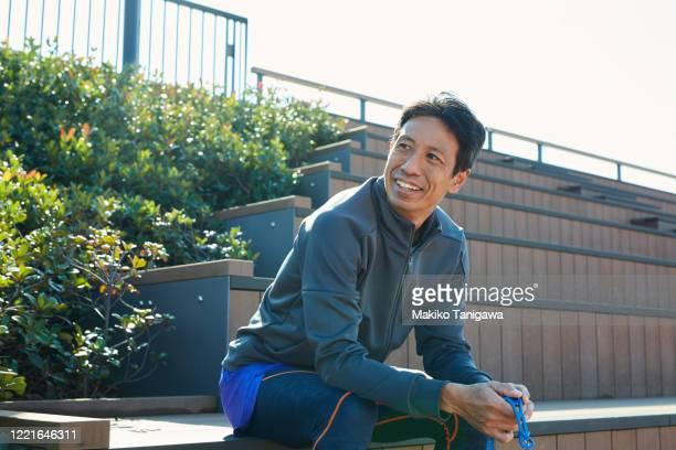 mature sportsman outdoors - スポーツ  ストックフォトと画像